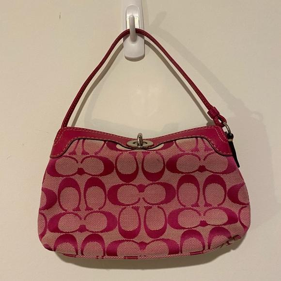 Coach Handbags - COACH Pink C's Evening Purse! 💗
